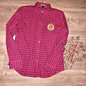 Lauren Ralph Lauren medium womans red shirt top